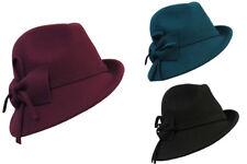 Retro Vintage 1920's 1930's 1940's style Felt Fedora Cloche Gatsby Trilby Hat