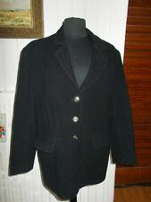 Veste classe blazer laine/cachemire noir FINEST QUALITY 14uk 42/44F Made England