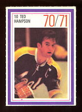 1970-71 ESSO POWER PLAYERS NHL 10 TED HAMPSON EXNM CALIFORNIA SEALS UNUSED STAMP