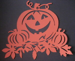 Fensterbild filigran Tonkarton  Kürbis Halloween Herbst 2teilig