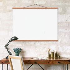 Retro DIY Magnetic Wooden Poster Hanger Frame Picture Frame 30cm Teak Wood