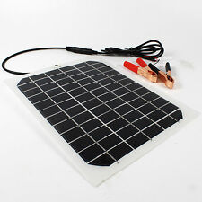 5W 12V Flexible Solar Panel Mono-crystalline Trickle Boat Car Battery Charger