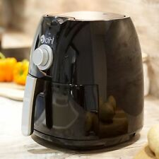Dihl Black 4L Dial Air Fryer Rapid Healthy Cooker Oven Low Fat Free Food Frying