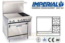 "Imperial Commercial Restaurant Range 36"" W/ 24"" Griddle Oven Nat Gas Ir-2-G24"