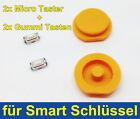 2x TECLAS goma para SMART Llave 450 Fortwo 451 FORFOUR + 2x Micro botón