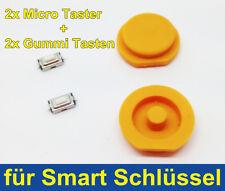 2x TASTI GOMMINO PER SMART CHIAVE 450 FORTWO 451 FORFOUR + 2x MICRO PULSANTE