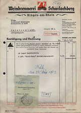 BINGEN a. Rhein, Rechnung 1951, Weinbrennerei SCHARLACHBERG Sturm & Co.