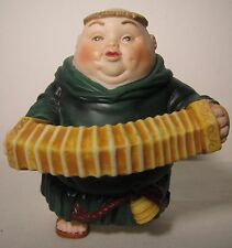 Merry Makers Dept 56 Porcelain Monk Clarence Concertinist Accordion Figurine