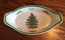 Spode Christmas Tree - OVAL FISH DISH - made in England - CASSEROLE - TRAY