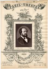 Lemercier, Paris-Théâtre, Roger, chanteur Vintage albumen Print Tirage album