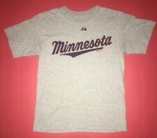 Majestic Minnesota Twins Gray T-shirt Size Boys Large MLB Baseball Graphic
