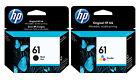 GENUINE NEW HP 61 (CH561WN/CH562WN) Ink Cartridge 2-Pack