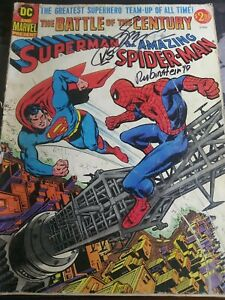 *SIGNED* Superman Vs The Amazing Spiderman Giant Treasury Edition (1976)