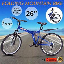 "Bicicleta De Montaña Mountainbike MTB 26"" 7 Velocidad Road Hombre Plegable"