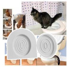 Cat Toilet Training Kit Kitten Plastic Mat Pet Supplies Behavior Litter Box DI