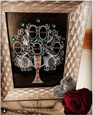 Personalised - Personalized Glass Engraved Silver Frame with Family Tree