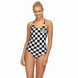 Speedo Women's Loopback One Piece Swimwear - Checkerboard, Ladies Swimsuit