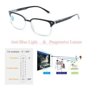 Progressive Varifocal Reading Glasses  Anti Blue-Ray Lenses +1.00 +1.50 to +3.00