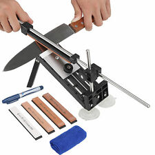 Kitchen Knife Sharpener Professional Sharpening System Fix-angle With 4 Stones