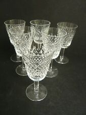 """Lovely Set of 6 Beautiful Waterford Crystal """"Alana"""" Wine Glasses"""