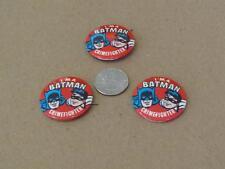 3- I M A BATMAN CRIMEFIGHTER Pins 1966 -  NO RESERVE