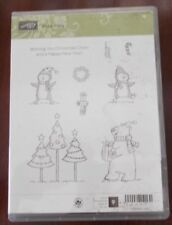 NIP Stamping Up Polar Party Unmounted Rubber Stamps Set of 9