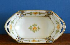 A hand painted Art Deco Japanese porcelain Bonbon dish  I & E imperfect.