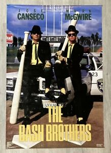 1988 OAKLAND A'S  BASH BROTHERS MARK MCGWIRE JOSE CANSECO POSTER COSTACOS SEALED