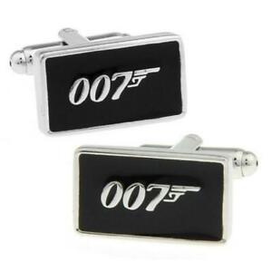007 CUFFLINKS James Bond Secret Agent Spy Groom Best Man Wedding NEW w GIFT BAG