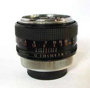 Canon FD Lens 55mm 1:1.2 Ultra Fast Prime Portrait Lens For Dim Light