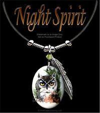 NIGHT SPIRIT OWL NECKLACE - WILD NATURE ART JEWELRY OWLS GIFT - FREE SHIP  #LTH*