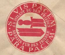 Germany 30p Posthorn M.Gladbach 1952 Anti Nazi Broken Sword Cinderella Cover 7m