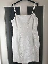 White Sleeveless Dress by Miss Selfridge UK Size 12 98% polyester 2%Elastane