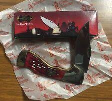 Steel Warrior Red Walnut Bone Choctaw Folding Pocket Knife SW-105RWJ