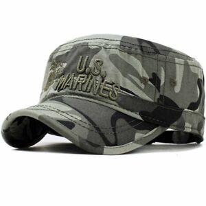 United States US Marines Corps Cap Military Camouflage Flat Top Unisex