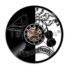 Piano Guitar Wall Clock Music Instrucment Vinyl Record Wall Clock Musician Gift