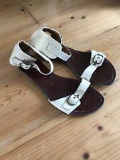 Chie Mihara Ladies Cream Flat Sandals, Size 38, Fit Like UK 7.
