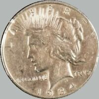 1934-D Peace Silver Dollar $1
