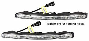 LED Tagfahrlicht Ultra Small Riffelglas 12V 10 SMD LEDs für Ford KA Fiesta TFL9