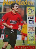 Wimbledon v Watford 17/1/1996 FA Cup 3rd Round replay MINT CONDITION