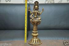 1 ft'' Beautiful Handmade Brass  Goddess Laxmi Statue with Oil lamp stand