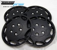 "Hubcap 15"" Inch Wheel Rim Skin Cover 4pcs Set Matte Black -Style 807 15 Inches-"