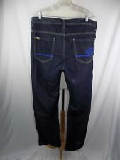 Enyce & Sean Combs 38 x 34 Men's Embroidered Jeans Blue Denim
