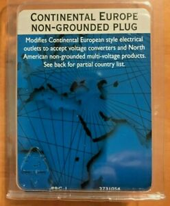CONTINENTAL EUROPE NON-GROUNDED PLUG ACCEPTS NORTH AMERICAN PRODUCTS