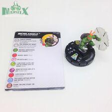 Heroclix Teenage Mutant Ninja Turtles 2 set Michelangelo #028 Super Rare w/card!