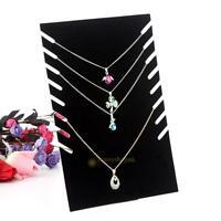 Necklace Pendant Chain Earring Display Holder Stand Velvet Easel Organizer Rack