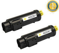 2 PK Yellow Toner Cartridge for Dell H625cdw H825cdw S2825cdn H625 H825 593-BBOZ
