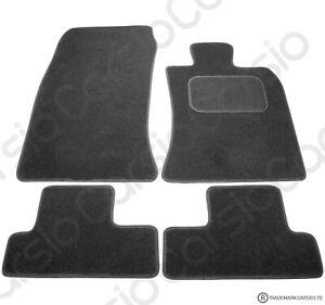 BMW Mini Convertible(r52) 2004 - 2008 Fully Tailored Black Car Floor Mats Carpet