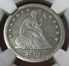 1891-o  seated Liberty quarter    , Ngc Fine details  , scarce date