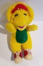 "Vintage LYON'S GROUP 90's Barney Friend B.J. Plush Stuffed Toy SNEAKERS 12"" RARE"